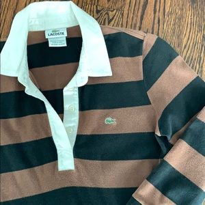 Lacoste Rugby Stripe Polo Dress